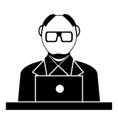Museum security guard icon simple style vector