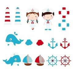Nautical clip art copy vector