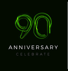 Ninety anniversary poster for party 90th years vector