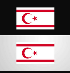 Northern cyprus flag banner design vector