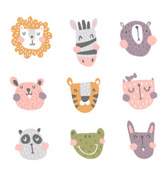 Nursery animals vector