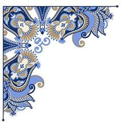 Ornate card announcement frame element vector