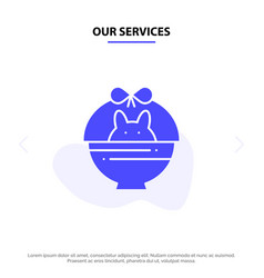 our services basket cart banature solid glyph vector image