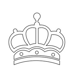 Outline crown victorian royalty ornament object vector