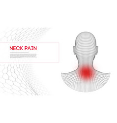 Pain in neck woman back pain with aches vector