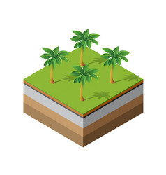 palm trees natural vector image