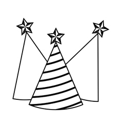 party hats isolated icon vector image
