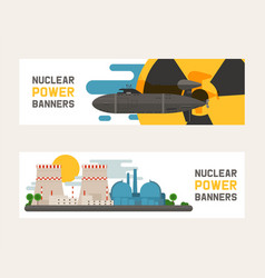 Radioactive nuclear power plant building vector