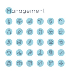Round Management Icons vector