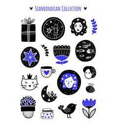 scandinavian vector image