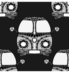 Seamless Pattern of Vintage car vector