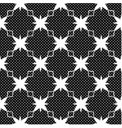 seamless pattern with polka dots black and white vector image