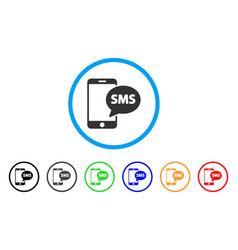 send phone sms rounded icon vector image