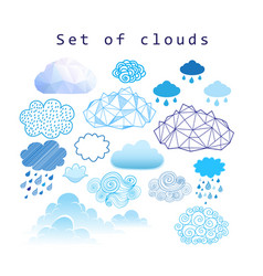 Set of different clouds vector