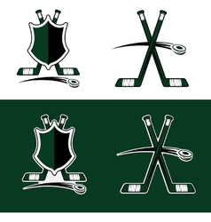 set of Hockey Sport Crests vector image