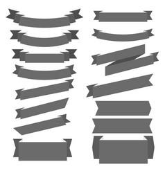 set ribbon banner vector image