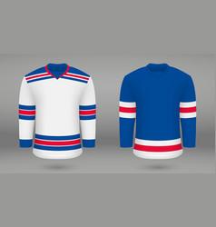Shirt template forice hockey jersey vector