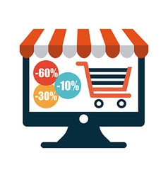shopping on line vector image