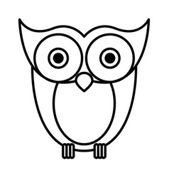 Sketch silhouette image owl bird vector