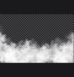 smoke clouds on transparent background realistic vector image