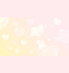 soap heart shaped bubbles vector image