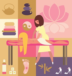 spa and beauty - body massage vector image vector image
