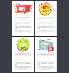 Special price 25 and -10 off vector