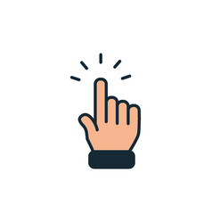 Startup hand pointing out fill style icon vector