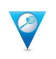 Tennis blue triangular map pointer vector