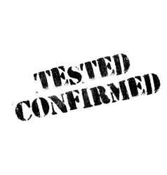 Tested Confirmed rubber stamp vector