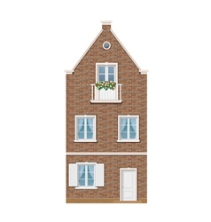 Traditional dutch town house vector