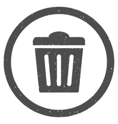 Trash Can Icon Rubber Stamp vector