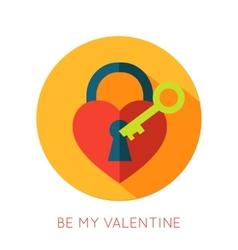 Valentines day flat isolated icon Be my valentine vector image