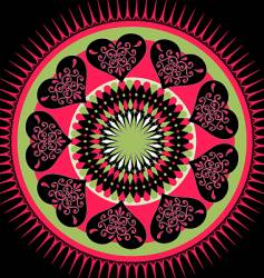 Valentine's mandala vector image vector image