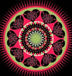 Valentine's mandala vector image
