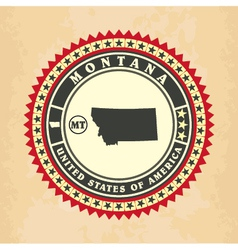 Vintage label-sticker cards of Montana vector