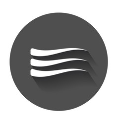 wave icon flat wave with long shadow vector image