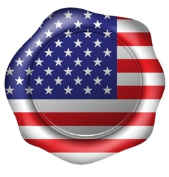 Wax seal with the american flag vector image