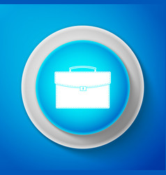white briefcase icon isolated business case sign vector image
