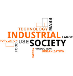 Word cloud - industrial society vector