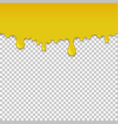 Yellow dripping slime seamless element vector