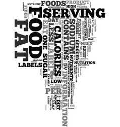 you need to know what is in your food text word vector image