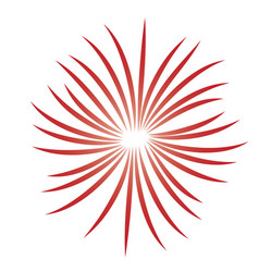 fireworks burst icon vector image vector image