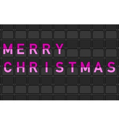 Merry Christmas Flip Board vector image