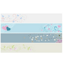 spring web banners vector image vector image