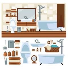 bathroom decoration concept vector image vector image