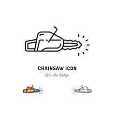 chainsaw icon thin line art symbol vector image vector image
