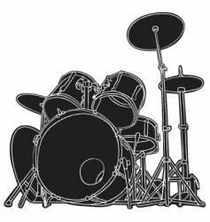 Drums sketch vector