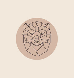 geometric head wolverine vector image