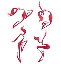 hot dance vector image vector image